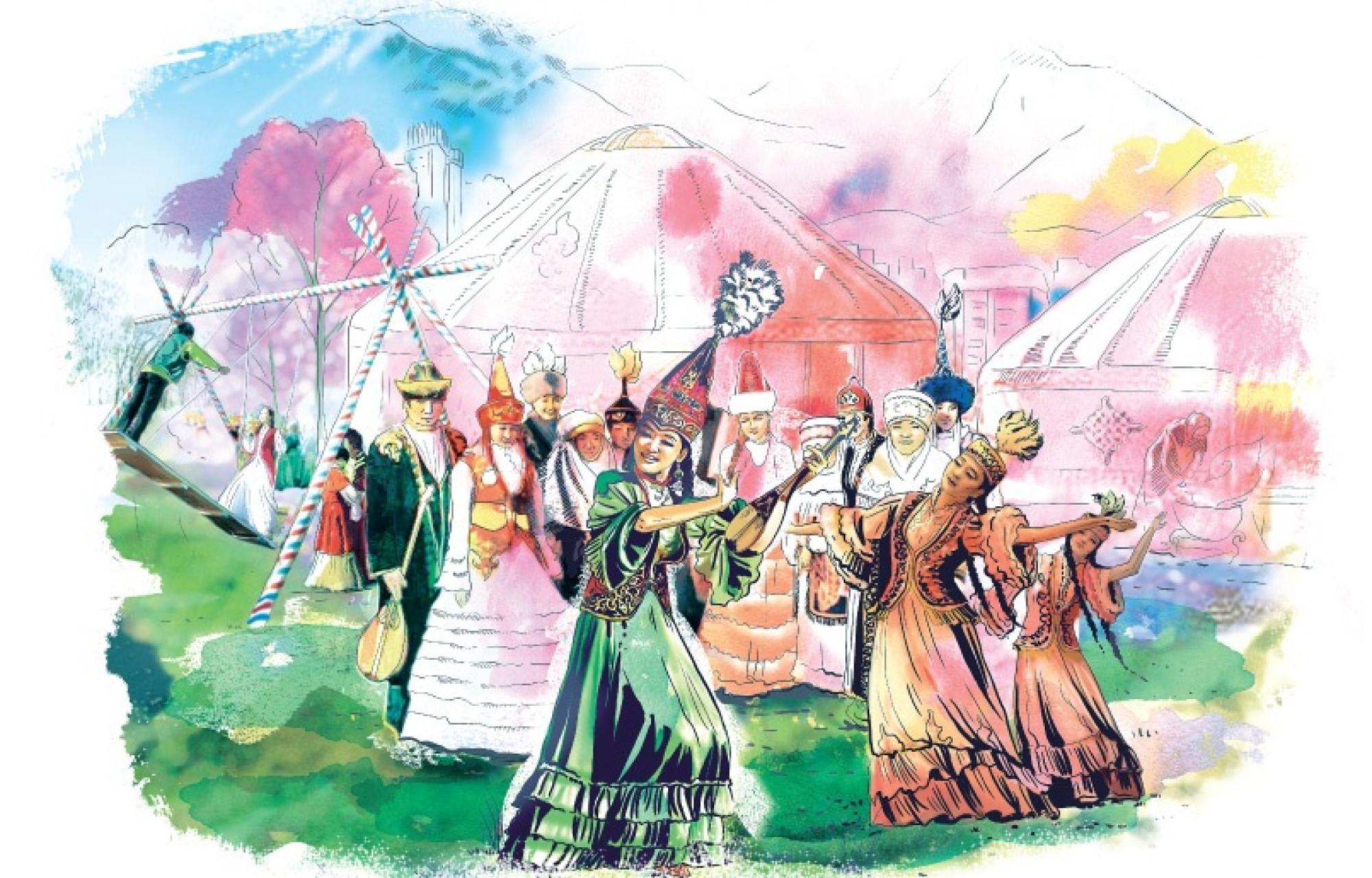 22 марта праздник наурыз день весеннего  равноденствия праздник весны юрты 22 марта праздник наурыз день весеннего равноденствия восточный новый год природа вежий воздух весна солнце трава мечают праздник поле сопки горы яркие цвета азия
