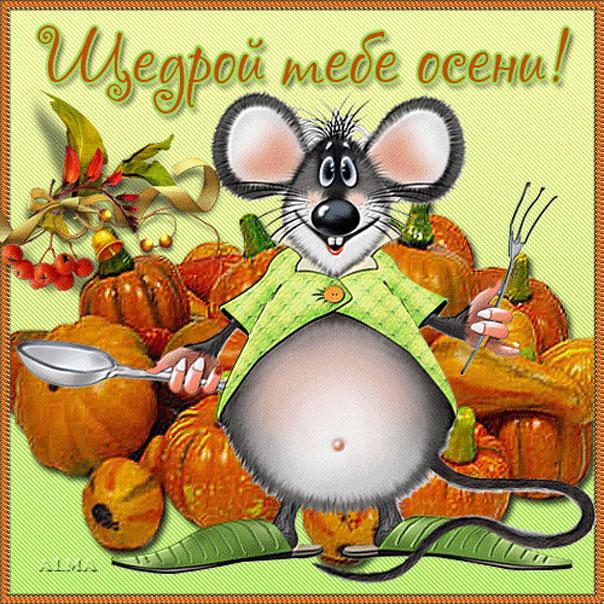 Прикольные открытки про осень