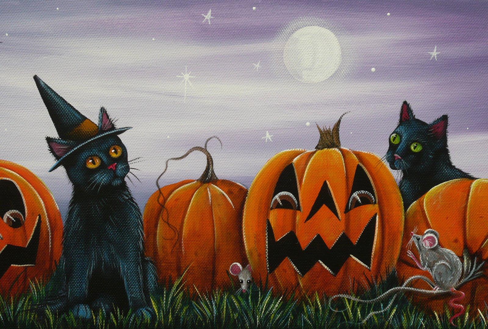 куколка картинки хэллоуина с кошками петунии менее коварны